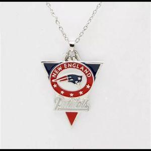 "New England Patriots pendant necklace w/ 18"" chain"